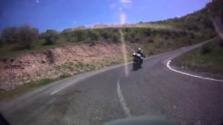 motorsikletle kıbrıscık yolunda virajlarda