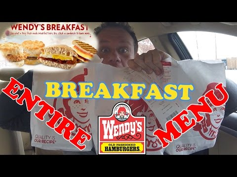 Wendy's ☆ENTIRE BREAKFAST MENU☆!!!