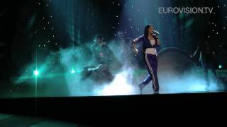 Eva Rivas' first rehearsal (impression) at the 2010 Eurovision Song Contest