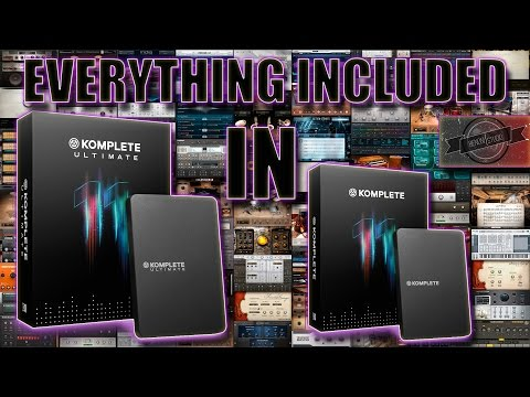 EVERYTHING INCLUDED IN KOMPLETE 11 AND KOMPLETE 11 ULTIMATE - WITH SOUND DEMOS