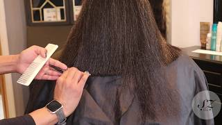 We cut 6 inches of  her Natural Hair | Silk Press