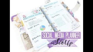 Social Media Planner Setup: YouTube, Blogs, Instagram
