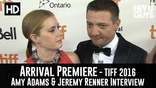 Amy Adams & Jeremy Renner Arrival Premiere Interview  TIFF 2016
