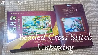 Flosstube #32 Unboxing 2 Beaded Cross Stitch Kits From XiuZhiYuan
