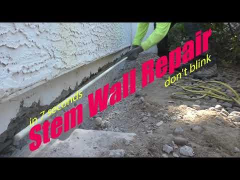 Cracking Concrete Stem Wall Repair