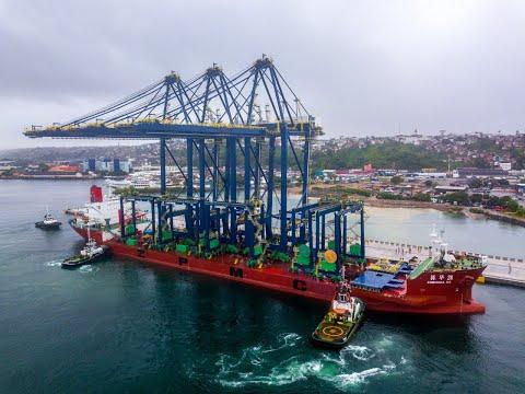 Chegada de novos equipamentos para obra de expansão do Tecon Salvador