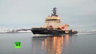 Новейший ледокол «Илья Муромец» прибыл на Северный флот