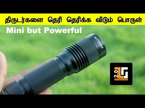 Super Tech BlitzWolf 750 Lumens Tactical LED Flashlight