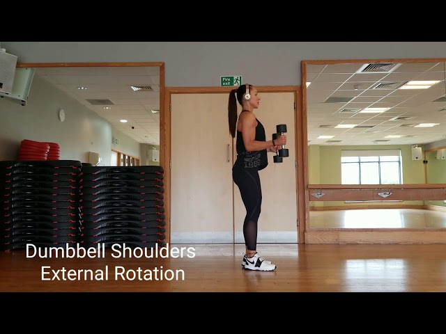 Dumbbell shoulders external rotation