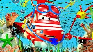 Vláčky pro děti Ponorkový Vlak Troy se Ponoří do Jezera!