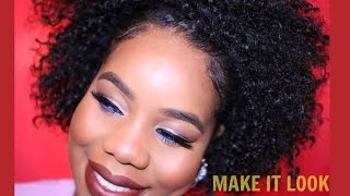 Natural Hair |best real looking half wig ever! | protective styling