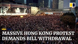 Massive Hong Kong Protest Demands Extradition Bill Withdrawal