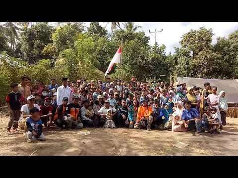 Ucapan selamat hari kemerdekaan pengungsi Lombok