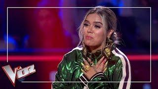 Karol G Se Emociona Con La Actuación De Andrés Balado | Momentazo | La Voz Antena 3 2019