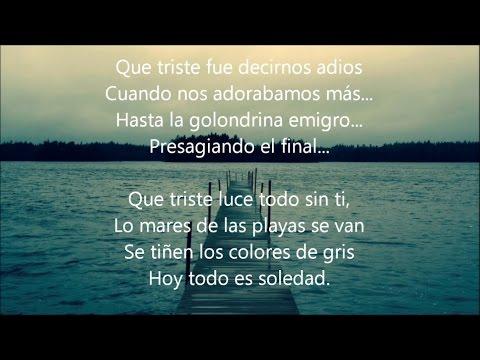 Jose Jose -El Triste(Letra Canción)