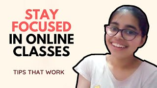 How To FOCUS & AVOID DISTRACTIONS During Online Classes   Practical Tips To Pay Attention In Class
