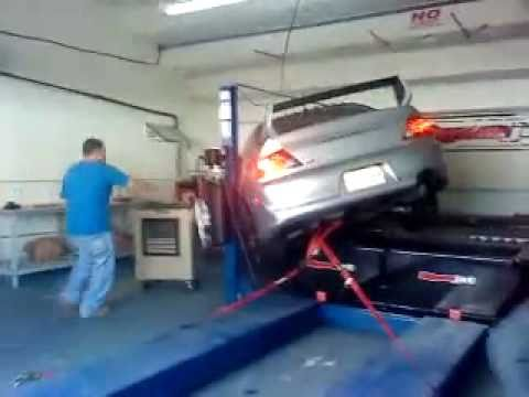 Mitsubishi EVOLUTION (EVO) decides to disgracefully side-tackle a pillar after a low dyno run of 450hp. How unsportsmanlike. This might have happened at Mech-Tech College in Puerto Rico this week.