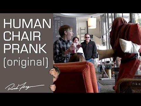 Human Chair Scare Prank (Original)