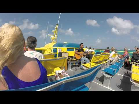 Ferry Ride To Isla Mujeres From Cancun Mexico – GoPro HD – May 2015