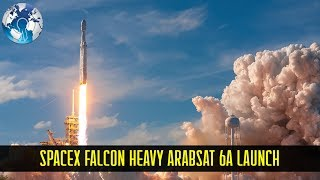 spacex falcon heavy rocket blasts off carrying satellite