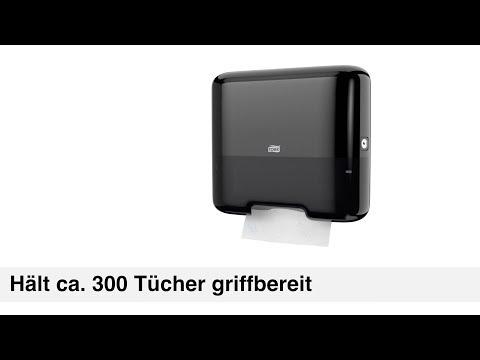 In edlem Schwarz – Papierhandtuchspender TORK Classic Box Mini