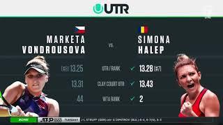 Marketa Vondrousova Vs. Simona Halep - Rome (Round Of 32)