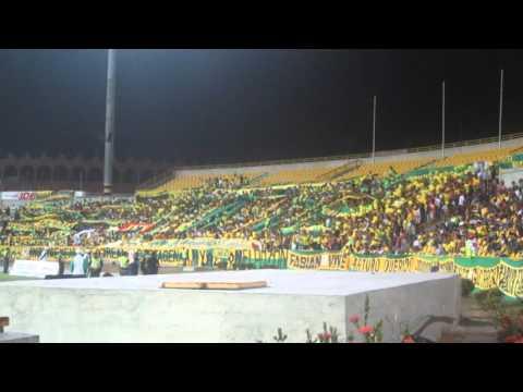 """""""REBELION AURIVERDE NORTE (REAL CARTAGENA VS leones 15 de feb 2016)"""" Barra: Rebelión Auriverde Norte • Club: Real Cartagena"""
