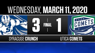 Crunch vs. Comets | Mar. 11, 2020