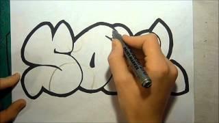 Graffiti - Sketch Soul In Bubble Letters [HD]