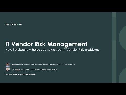 , title : 'IT Vendor Risk Management - Solve your top 3 problems