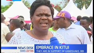 Embrace brigade tour Kitui, pledge support for handshake and BBI
