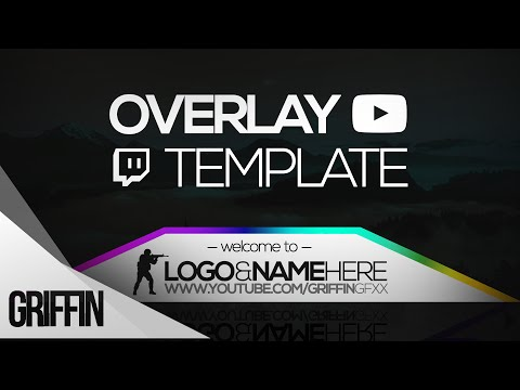 2016 free twitch overlay template psd file download griffin gfx