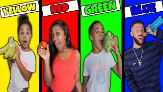 Eating Only ONE Color of Food for 24 Hours!
