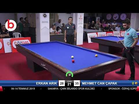 ERKAN ARIK & MEHMET CAN ÇAPAK Bilardo Maçı - SAKARYA ÖZPAŞ CUP 2019-FİNAL 1/8
