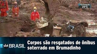 Corpos São Resgatados De ônibus Soterrado Em Brumadinho | SBT Brasil (29/01/19)