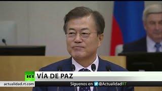 El presidente de Corea del Sur da por acabados los tiempos de guerra en la península coreana