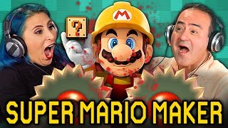 ADULTS PLAY SUPER MARIO MAKER (Adults React: Gaming)