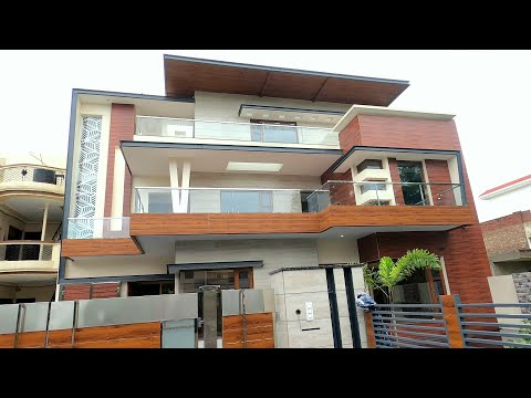 Amazing Architecture 8200 sq ft The 9 BHK Triple Story Modern House in Mohali, India