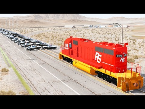 BEAMNG DRIVE - CRAZY TRAIN RAMPAGE!