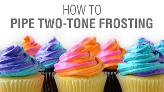 how to use two tone icing bag