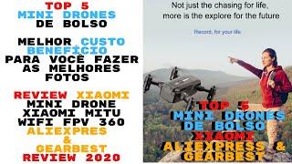 ▶️Top 5 Mini Drones Baratos Review Xiaomi Mitu 2020 Drones Baratos que Cabem no Bolso Aliexpress ▶️