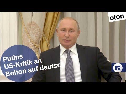 Putins US-Kritik gegenüber Bolton auf deutsch [Video]