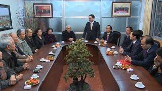 Chủ tịch UBND TP. Hà Nội Nguyễn Đức Chung chúc Tết Câu lạc bộ Thăng Long