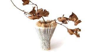 Book Folded Vase - Bibliogami Project