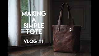 MAKING A LEATHER TOTE BAG OR LEATHER SHOULDER BAG.