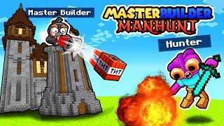 Manhunt MASTER BUILDER! (Speedrunner vs Hunter)
