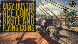 Monster Hunter World -  Fast Hunter Ace, Brute and Flying Coins   A- Rank Tempered Monsters