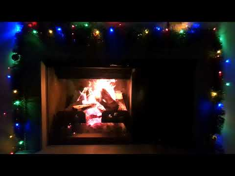 ★ Christmas Real Crackling Fireplace ★ Relaxing fireplace sound ★