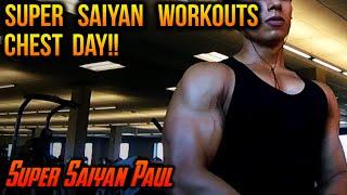 Super Saiyan Workouts - Chest / Triceps Day! | Super Saiyan Paul
