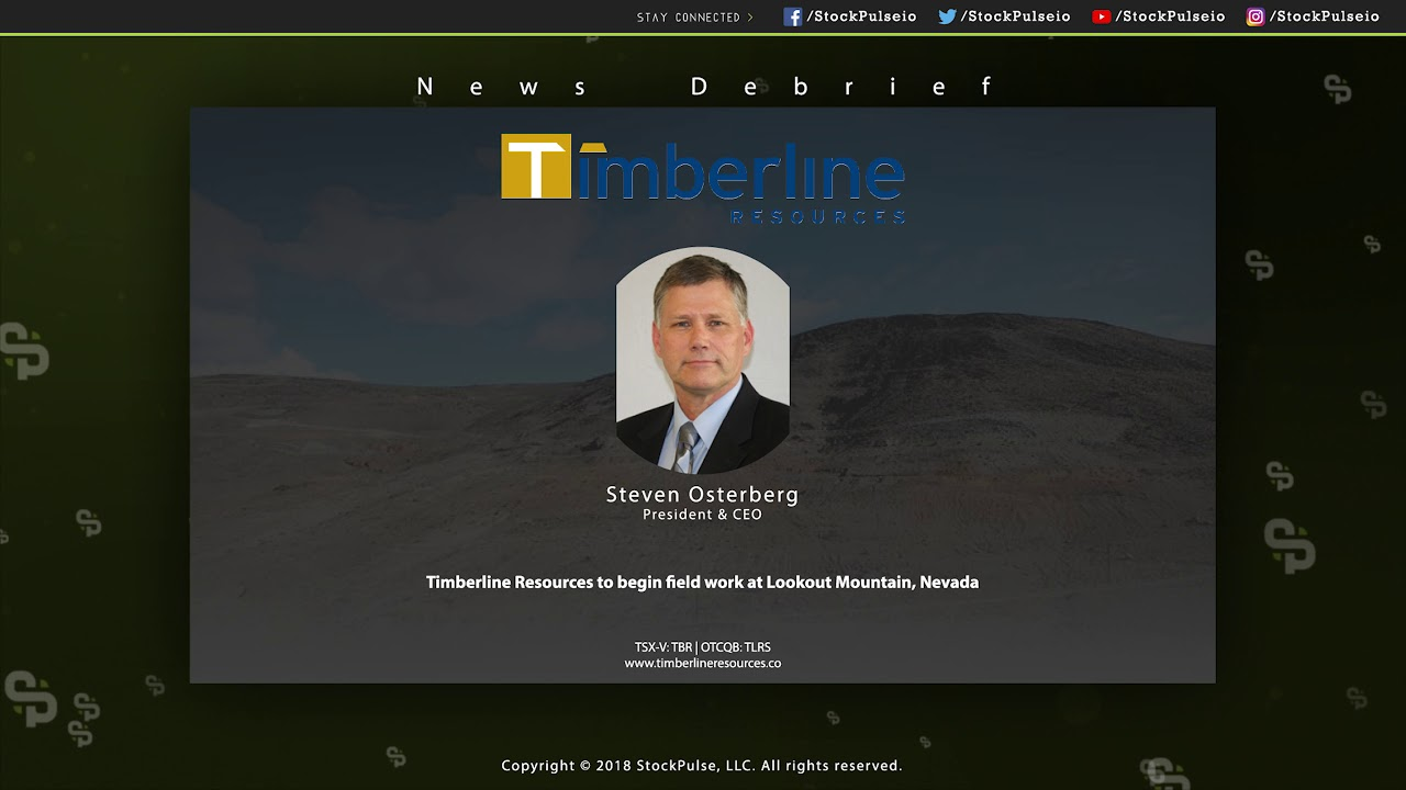 Timberline Resources to begin field work at Lookout Mountain, Nevada